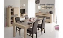 Esszimmer Set 6-teilig Chris 5 Speisezimmer Eiche Steinoptik mit Highboard