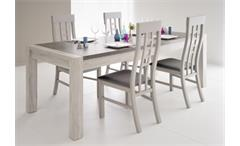 Esstisch Malone 31 Tisch Esszimmertisch Küchentisch Eiche Steinoptik grau 180 cm
