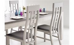 Esstischgruppe Malone 7, Eiche Steinoptik grau Tisch 180 x 90 und 4 Stühle