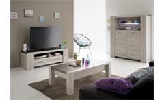 3tlg. Wohnzimmer Set MALONE 41 in Eiche Steinoptik grau