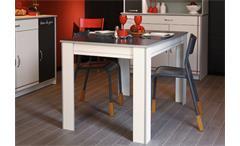 Esstisch Bistrot 5 Küchentisch weiß mit Absetzungen Platz für 4 Personen