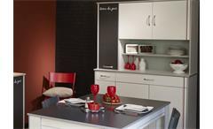 Bistrot 6 Komplettset 4Tlg. Küchenschränke Beistellschränke mit Esstisch in weiß