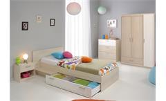 Jugendzimmer Charly 12 4-teilig Kinderzimmer Schrank Bett Kommode Akazie weiß