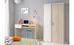 Jugendzimmer Charly 15 5-teilig Kinderzimmer Nako Bett Schrank Akazie weiß