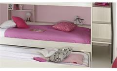 Etagenbett GRAVITY 12 in Esche Struktur mit Bettschubkasten Hochbett Kinderbett