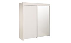 Schwebetürenschrank Ontario 10 in weiß Hochglanz Kleiderschrank 2-türig Schweber