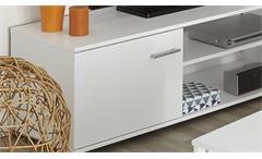 TV-Lowboard Infinity TV Board weiß Phonomöbel TV-Möbel Fernsehtisch Wohnzimmer