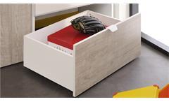 Kleiderschrank Yolo 7 weiß Loft Grey 2-türig Jugendzimmer Kinderzimmer Schrank