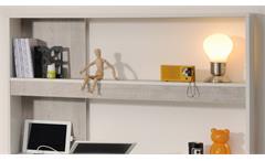 Schreibtisch Yolo 8 in weiß Loft Grey Kinderzimmer Jugendzimmer