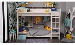 Etagenbett Higher Hochbett Kinderbett Bett für Kinderzimmer in Nordische Esche