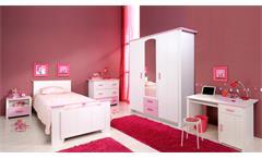 Kinderzimmer-Set BEAUTY 13 weiß rosa 5-teilig mit Spiegel