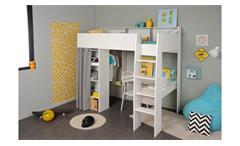 Etagenbett Bibop 11 : Paidi kinderbett mit treppe u elegante etagenbett in weiß kiefer