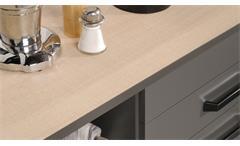 Küche Moove 1 Einbauküche Küchenzeile Küchenblock grau Eiche hell 7-teilig