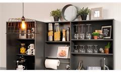 Küche Moove 3 Küchentheke Bar Bartisch Standregal grau und Eiche hell 3-teilig