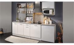 Küchenzeile SPOON Natura 1 Hochglanz Weiß Parisot 7-tlg