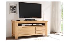 TV-Board 2 Merano Lowboard in Wildeiche bianco teilmassiv geölt und gewachst