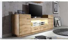 TV-Board 3 Qubo Wildeiche bianco massiv geölt und gebürstet inkl. Softclose