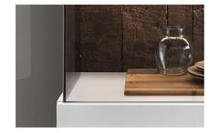 Wohnwand Modena 4-teilig Wohnzimmer Möbel in reinweiß lackiert mit Glaseinsatz