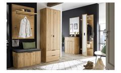 Garderobenschrank Garderobe Lissabon Schrank in massiver Wildeiche Bianco 70x40