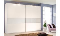 Schwebetürenschrank SAVOY weiß mit Glas Breite 359 cm