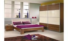 Schlafzimmer Set JUWEL & PLUS 2 in Nussbaun und Weiß