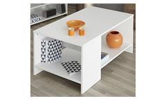 Couchtisch Infinity Wohnzimmertisch Beistelltisch Tisch in weiß 99 cm