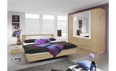 BURANO Schlafzimmer-Set Sonoma Eiche und Weiß