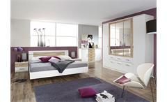 Schlafzimmerset BURANO in Weiß und Sonoma Eiche 4-teilig