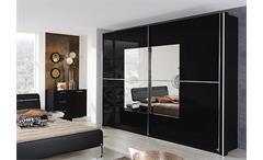 Schwebetürenschrank NALA Kleiderschrank in schwarz 270 cm