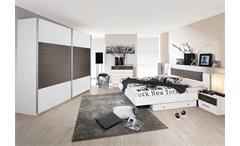 Schlafzimmerset BARCELONA Schlafzimmer in weiß lavagrau