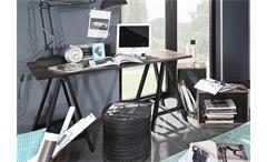 Schreibtisch SUMATRAVintage Braun Schwarz