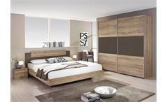 Schlafzimmer BORBA Eiche Sanremo hell und Lavagrau