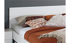 Bettanlage Lorca Bett Nako weiß Hochglanz 180x200 cm