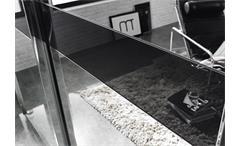 Kleiderschrank Bayamo Schrank Spiegel Weiß Glas schwarz B 181 cm