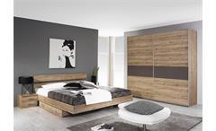 Schlafzimmer ALMADA Eiche Sanremo hell Lavagrau 4-Teilig