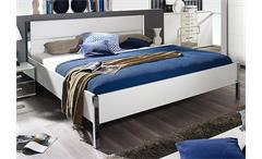 Futonbett Moita Bett in weiß und Lederlook weiß 180x200 cm