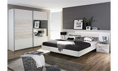 Schlafzimmer 2 SARAGOSSA Weiß und Eiche Sanremo Weiß