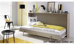 Schrankbett Albero 90x200cm Eiche weiß Klappbett Kinderbett Rauch Betten
