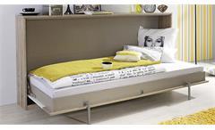 Schrankbett Albero Eiche Weiß 90x200cm Klappbett Kinderbett Funktionsbett