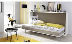 Schrankbett ALBERO 90x200cm Weiß Lava Funktionsbett Kinderbett
