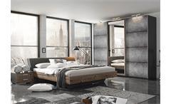 Schlafzimmer-Set Streetway Kleiderschrank Bett Nakos Lärche basalt Beton Optik