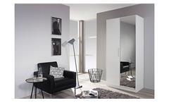 Garderobenschrank Minosa Schuhschrank Kleiderschrank in weiß Hochglanz 91 cm