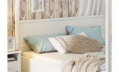 Himmelbett Marit Bett Schlafzimmer weiß 180x200 cm