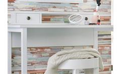 Frisiertisch Marit mit Spiegel Schminktisch Konsole Kommode Schlafzimmer weiß