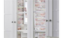 Kleiderschrank Marit Schrank mit Spiegel Schlafzimmer weiß  Breite 181 cm