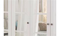 Kleiderschrank Marit Schrank mit Spiegel Schlafzimmer weiß  Breite 225 cm