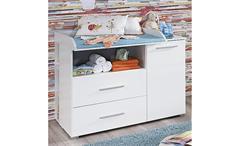 Wickelkommode Manja Wickeltisch Babyzimmer Weiß Hochglanz