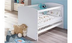 Babybett Manja Babyzimmer weiß Hochglanz 70x140 cm