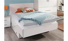 Futonbett Manja Jugendzimmer Bett weiß Hochglanz 90x140 cm