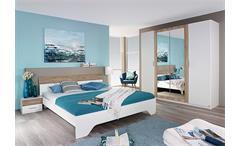 Schlafzimmer-Set HEINSBERG Weiß Eiche Sanremo hell